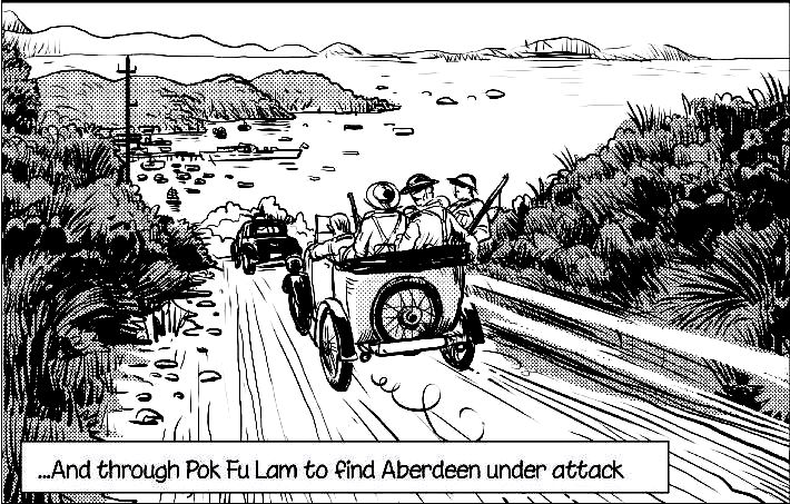 On the road to Aberdeen  	Picture from the SCMP ©