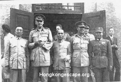 Admiral Chan Chak Lt-General Sir Adrian Carton de Wiart          Photo from Admiral Chan Chak's collection © align=