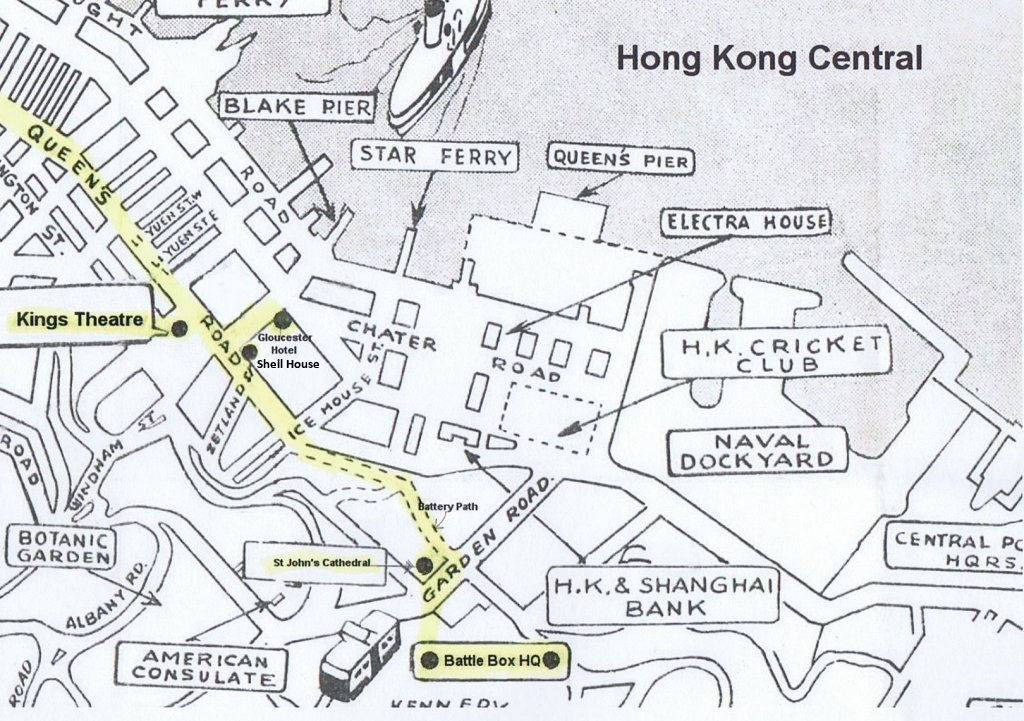 The route from Battle HQ to Chan Chak's office and beyond