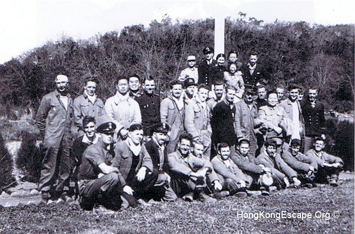 Hong Kong RN escape party in Huaxi Park, Guiyang 25th January 1942 ©