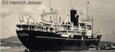 SS Heinrich Jessen. Photos from Ashby & Collingwood collections ©