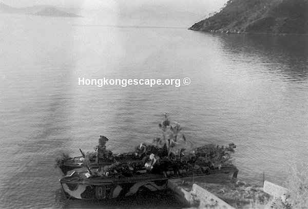 MTB 07 & 09 under camouflage in Telegraph Bay by day  prior to the escape on Christmas Day 1941.         Photo from the Hide collection ©