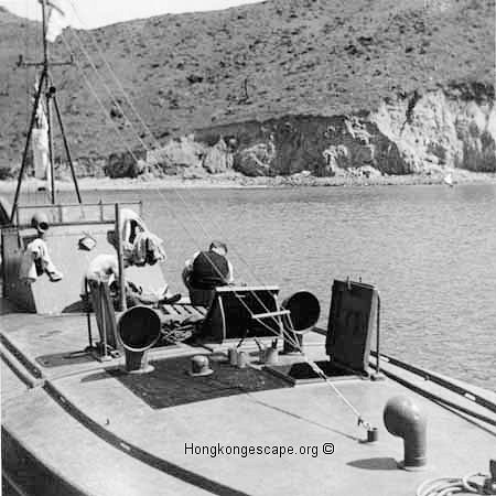 MTB 27 alongside HMS Robin in Mirs Bay       Photo from the Hide collection ©