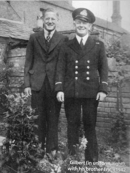 Warrant Officer Gilbert Thums with his brother Erik in 1942
